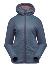 [252.2.1] Women Pinneco Insulation Jacket with hood (Xsmall, Storm Blue)