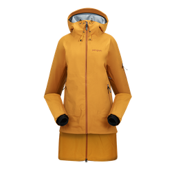 [241.7.1] Women 3 Layer Dermizax Parka Extension for Shell Jacket (Xsmall, Curry Gold)